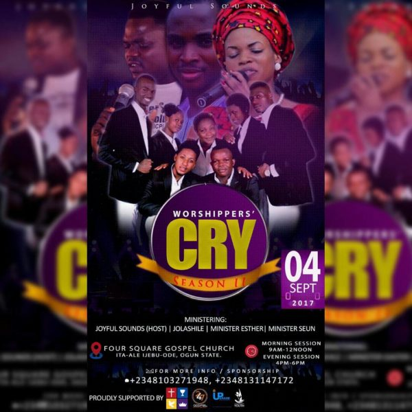 EVENT : JOYFULSOUNDS ANNOUNCES WORSHIPERS' CRY 2.0 #WC17 & NEW SINGLE RELEASE DATE