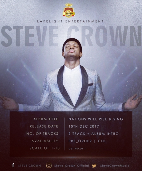 "Anticipate Steve Crown ""Nations Will RIse And Sing"" Album"