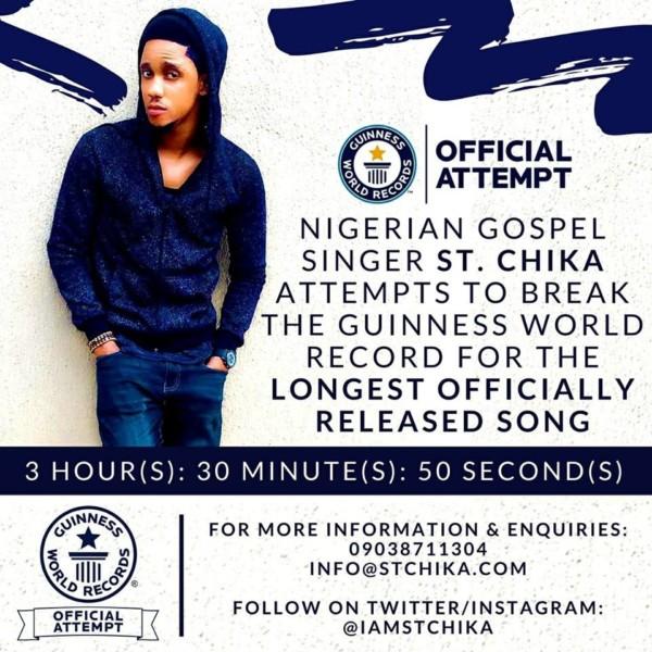 St. Chika set to break Guinness World Record @iamstchika
