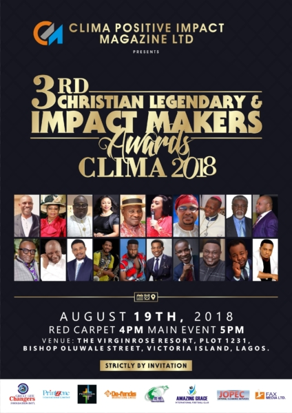 #News: CLIMA AWARDS 2018 Set For 19th August In Lagos